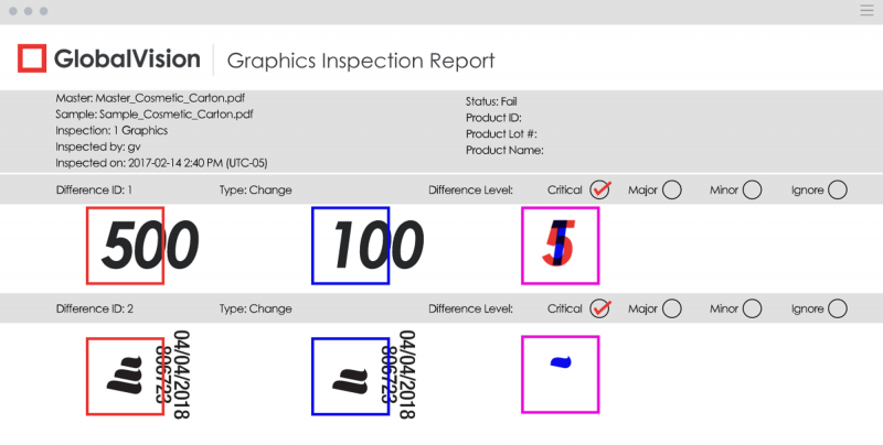 graphics ispection e report